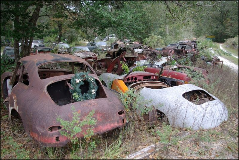 A Lot Of Abandoned Cars