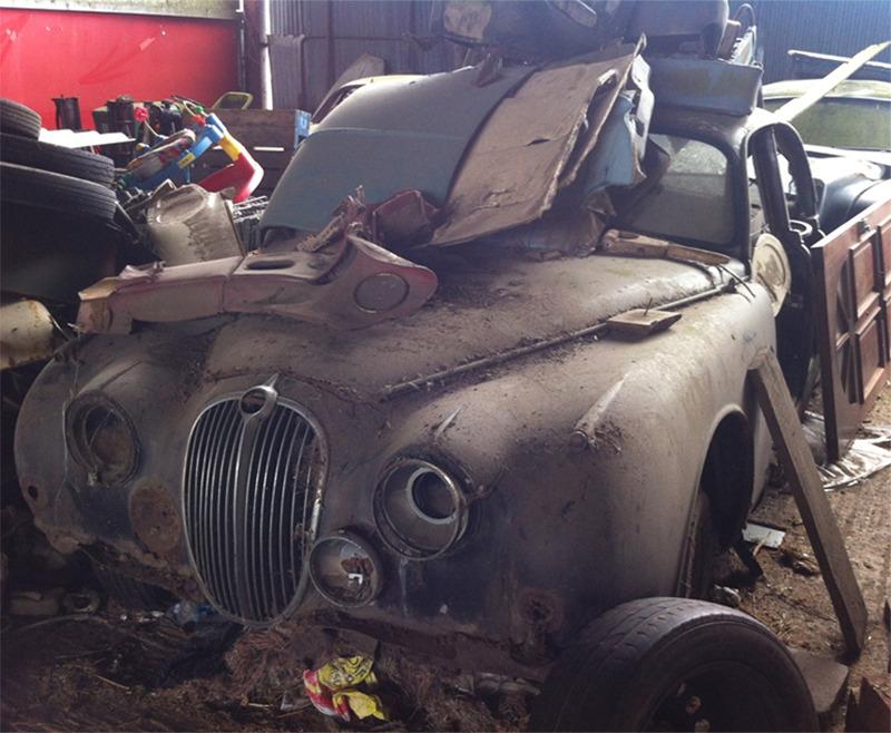 A Jaguar Mark 2 Buried In Junk
