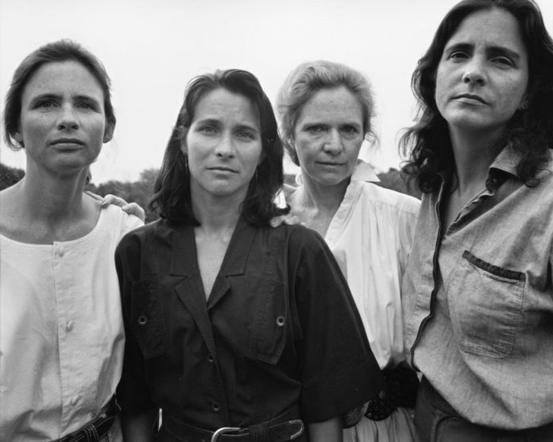 four women in a photo