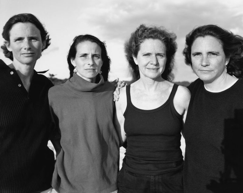 four sisters in black