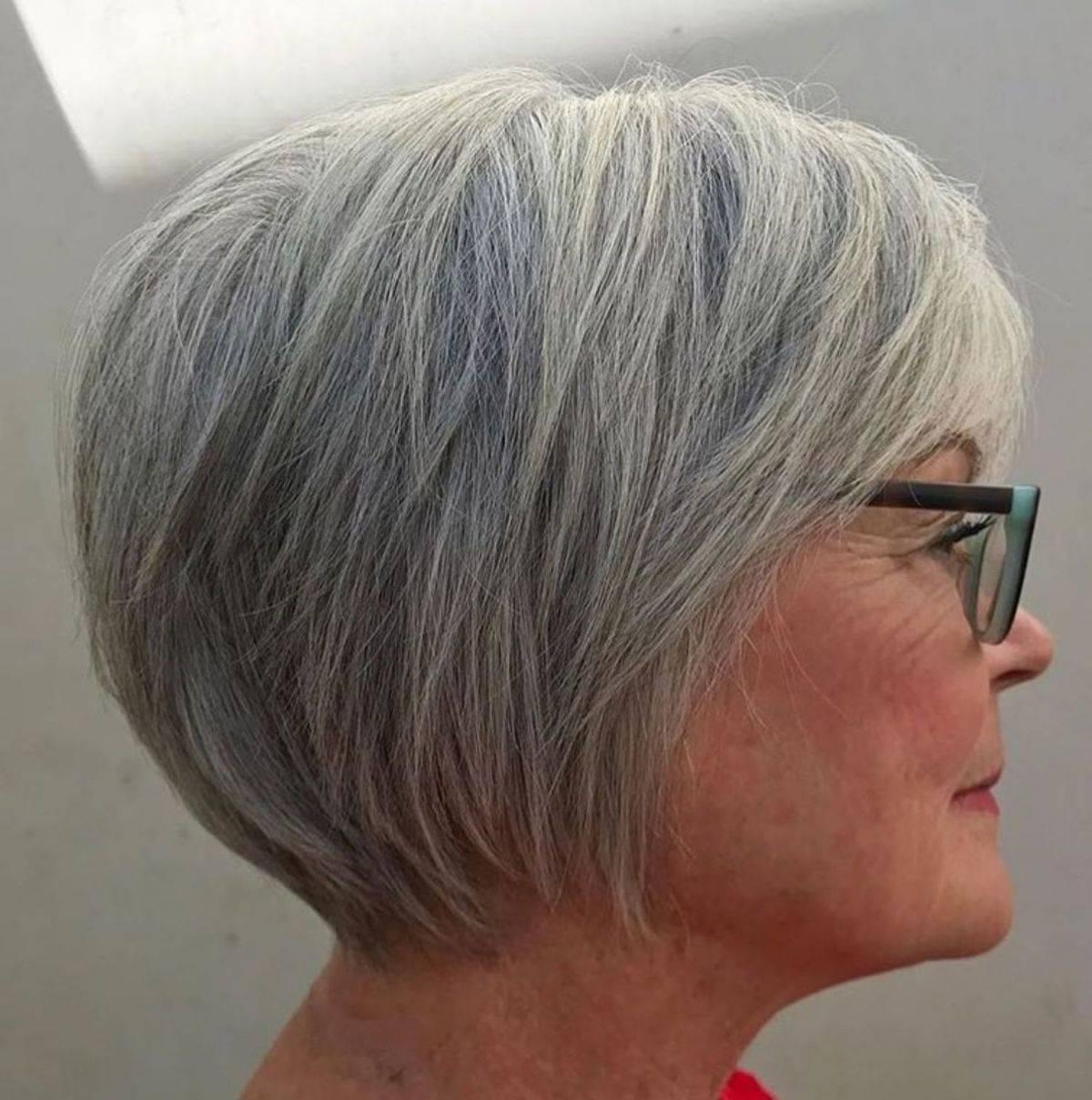 silver bob hair