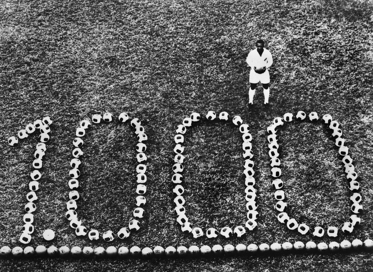 Brazilian Football Player Pele'S 1000Th Goal