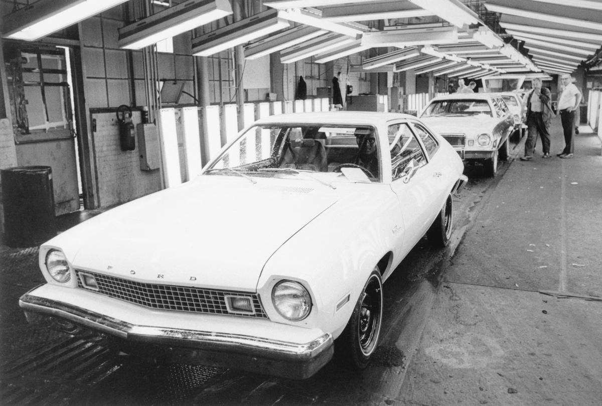Ford Pinto Pony Coming off Assembly Line