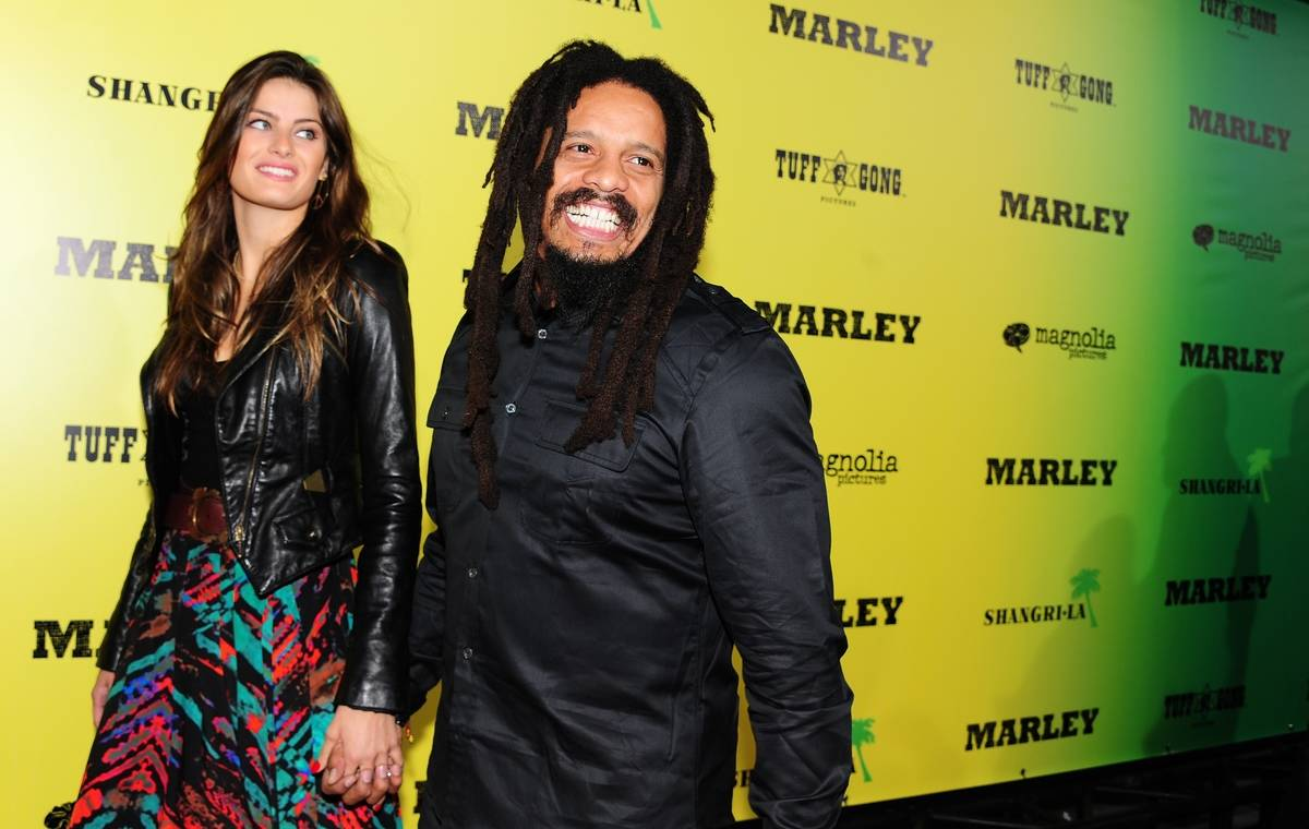 Rohan Marley and his date Isabella Fonta