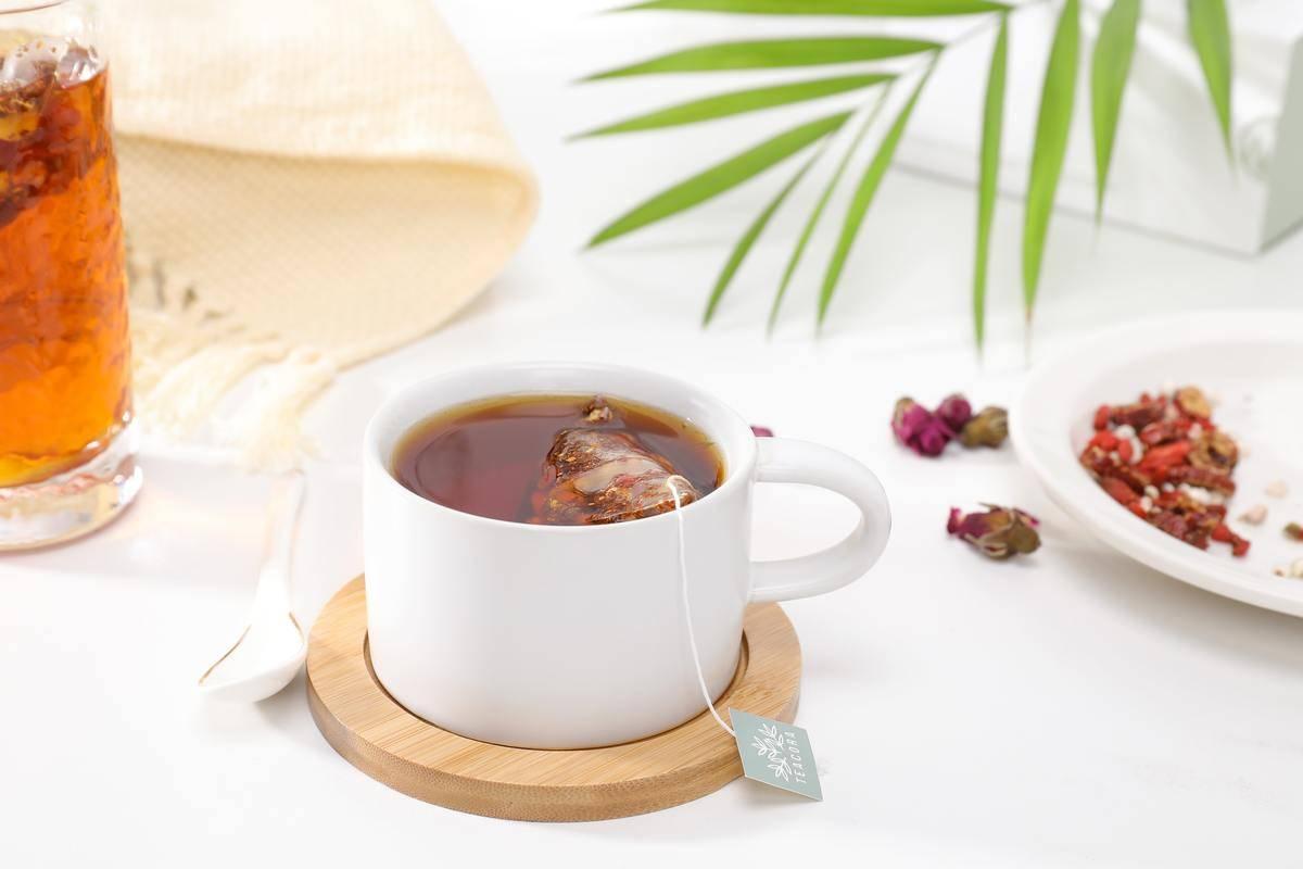 a mug of tea on a table