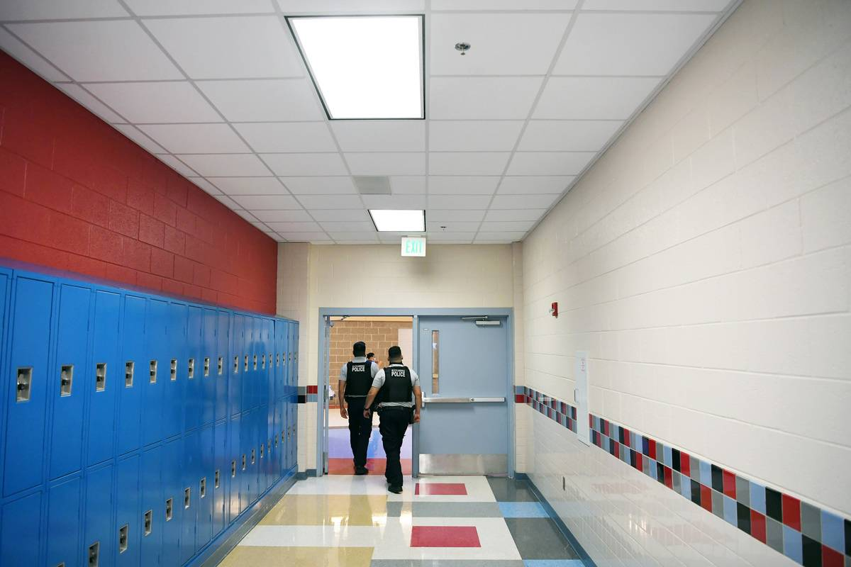 School rescource officers at T.C. Williams High School - Alexandria, VA